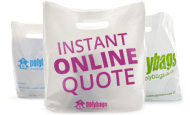Get an *Instant* Online Quote any time of day, 24/7! The best quotation on Printed Carrier Bags, direct from the UK's No. 1 Manufacturer, with no obligation.